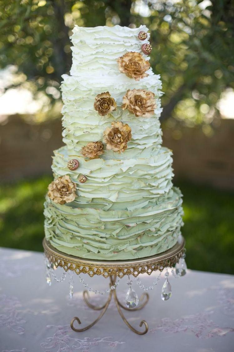 green gold cake
