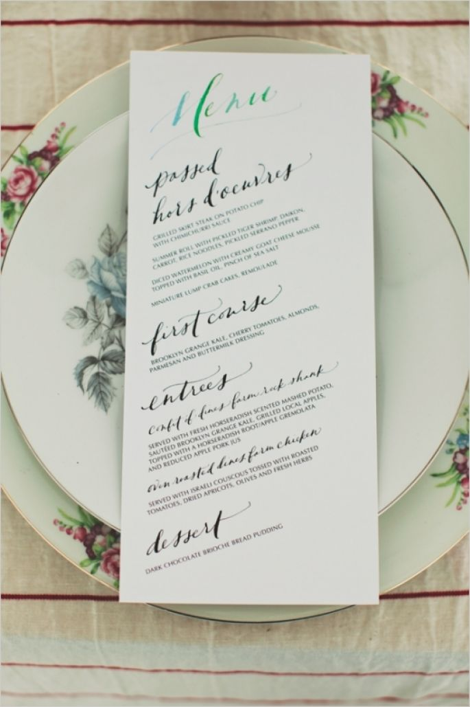 7 WAYS TO PERSONALISE YOUR WEDDING MENU