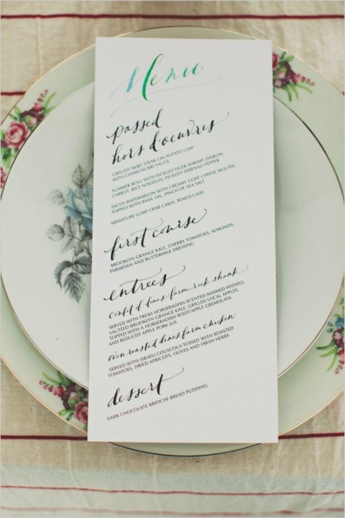 wedding menues: 7 WAYS TO PERSONALISE YOUR WEDDING MENU