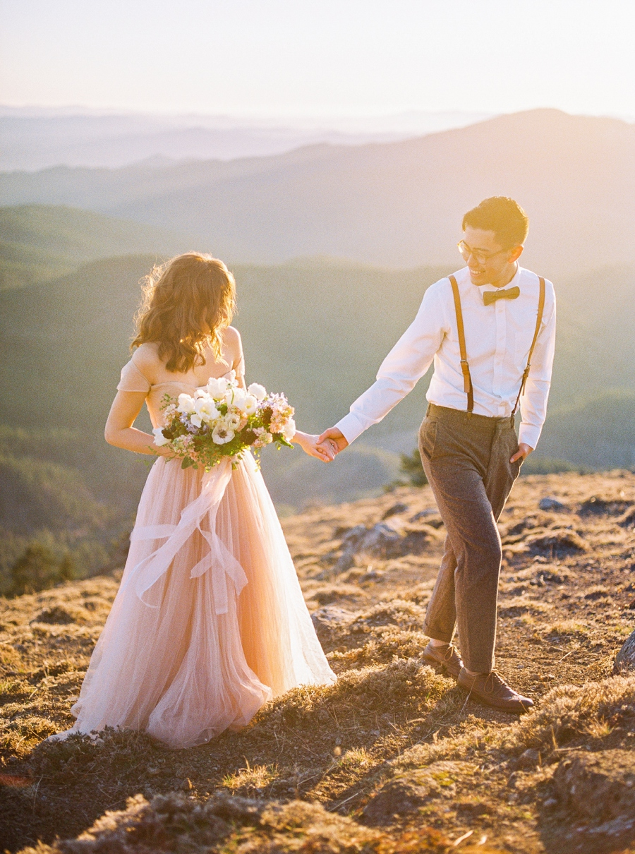 Pastel dress elopement