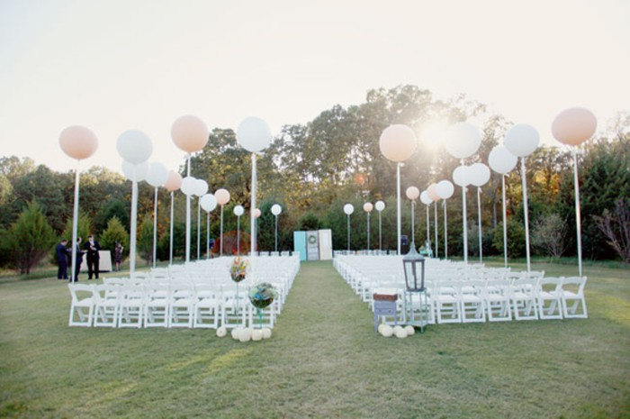 Ceremony with balloons