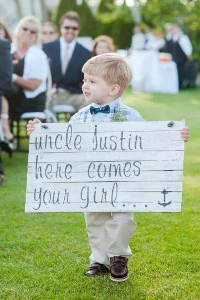 Groom surprise sign