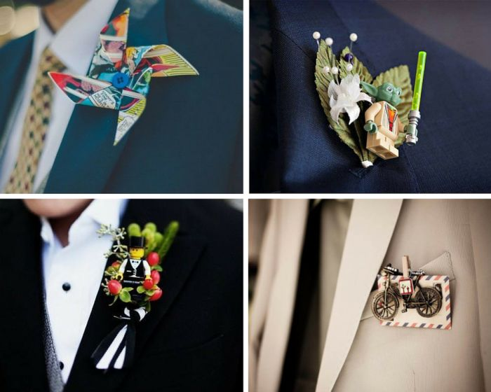 A collage groomsmen done