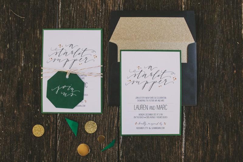 Jade green invite