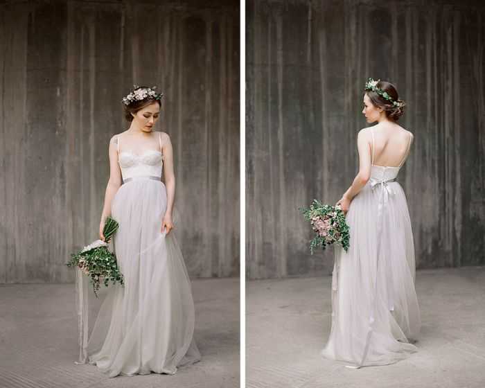 BRIDAL TREND: GREY WEDDING GOWNS | SocialAndPersonalWeddings.ie