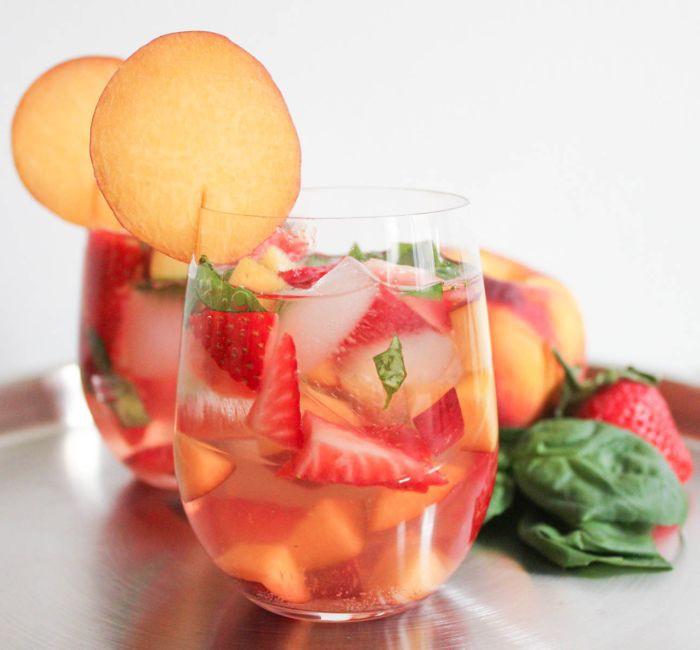 Sparkling sangria cocktail