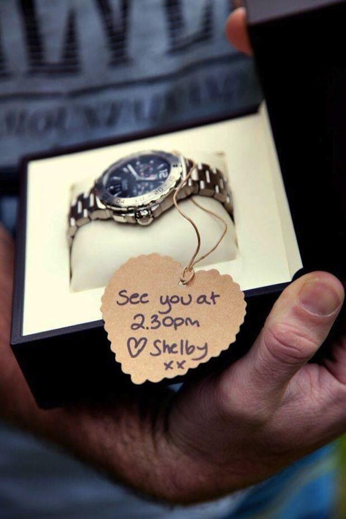 Surprise groom watch