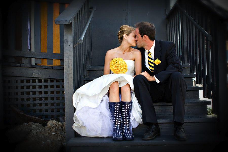 bride wellies