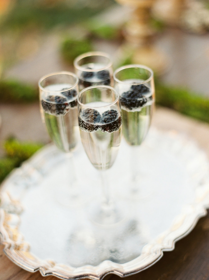 Blackberry champagne