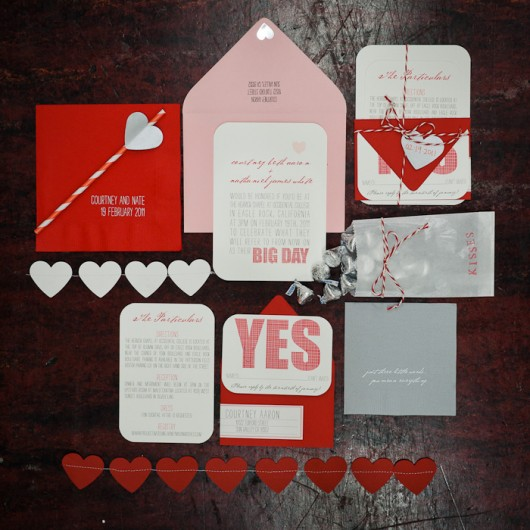 Red and pink stationery