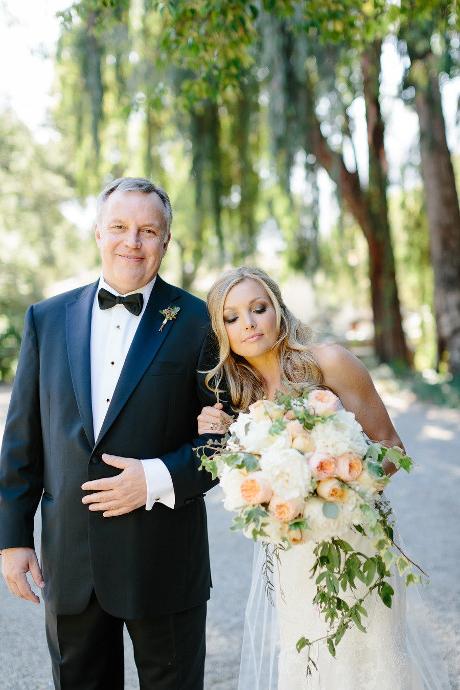 Bride with father photo