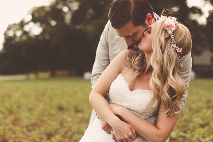 Bride and groom, speech