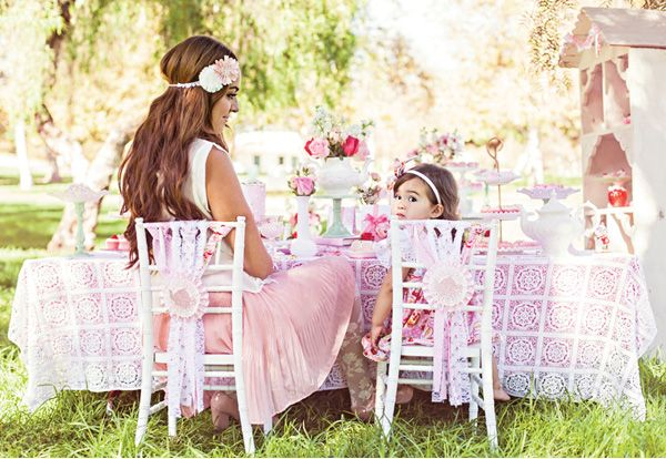 flower girl tea party