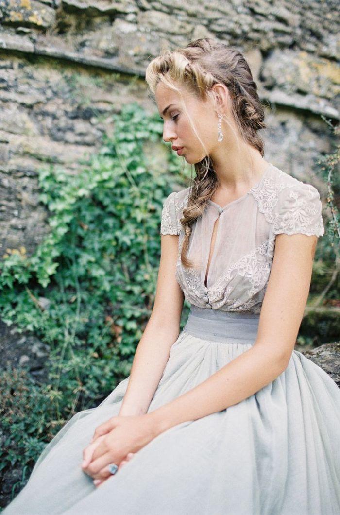 BRIDAL TREND: GREY WEDDING GOWNS | SocialAndPersonalWeddings.ie