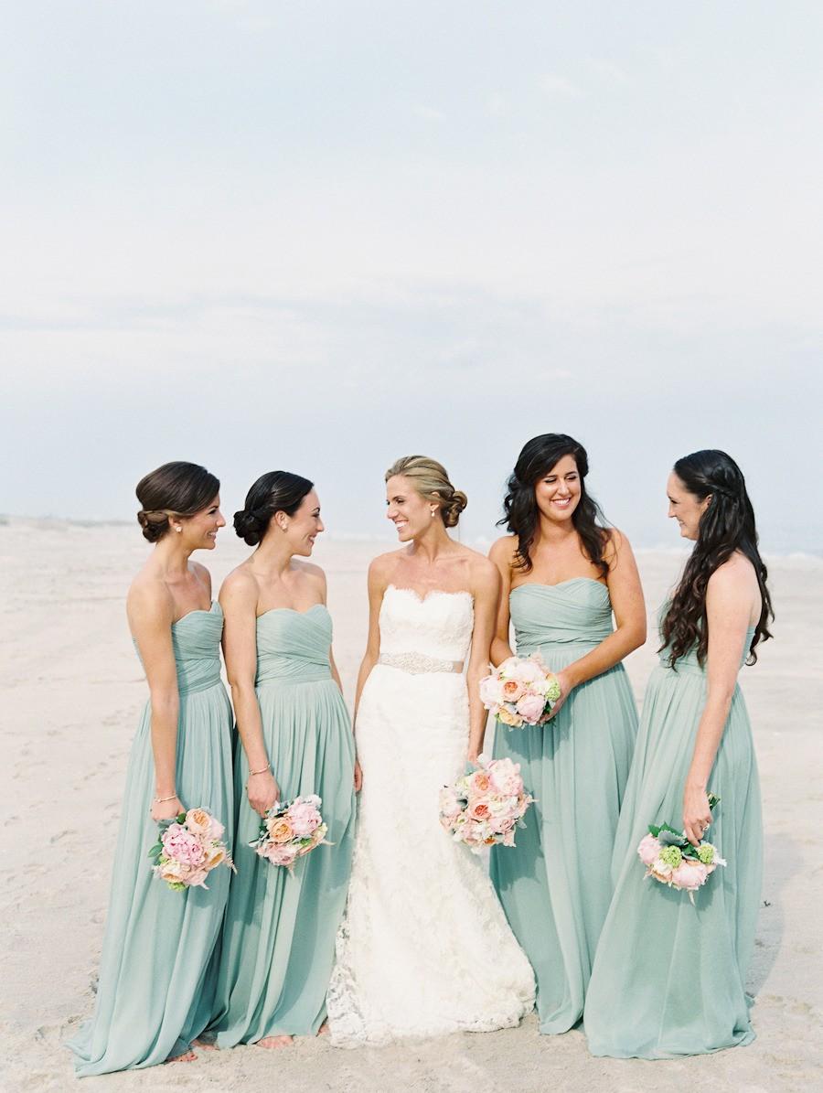 Seaside bridesmaids