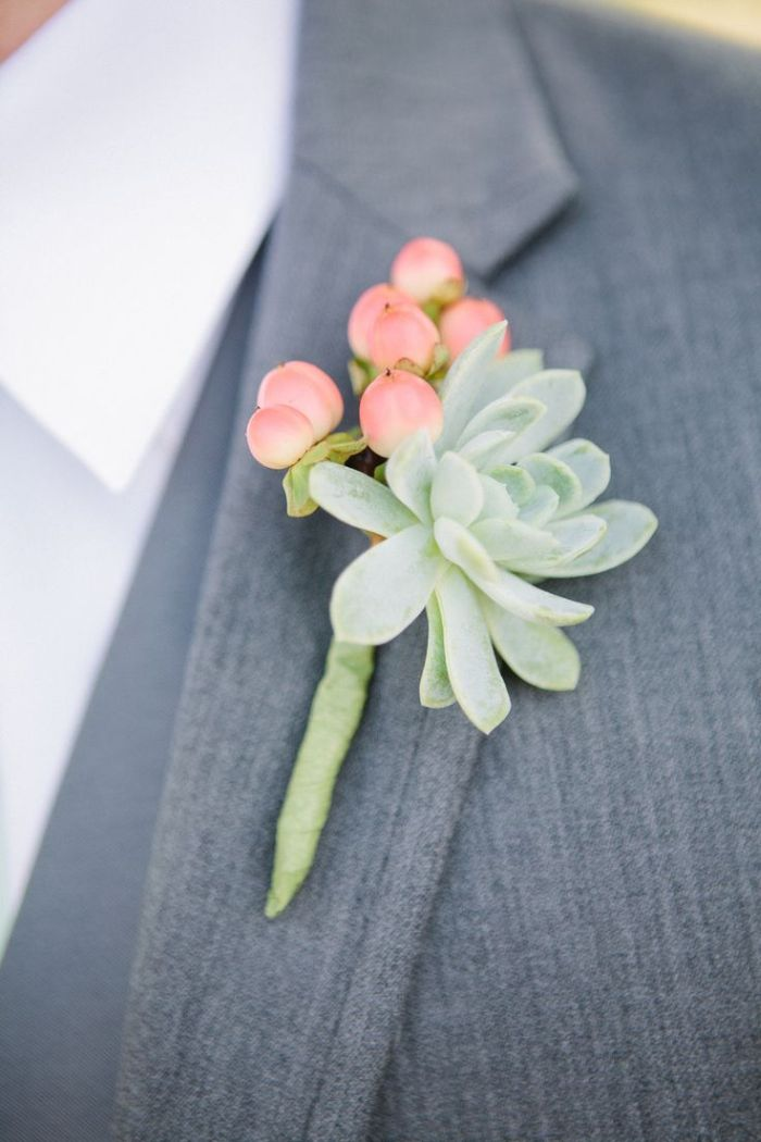 Pastel floral buttonhole