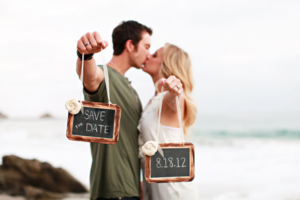 Save the Date engaged shoot