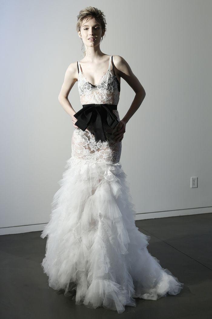 Feather Wedding Dress Vera Wang