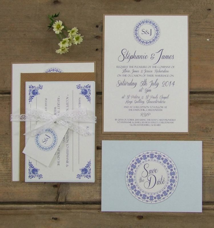 Blue stationery, postage