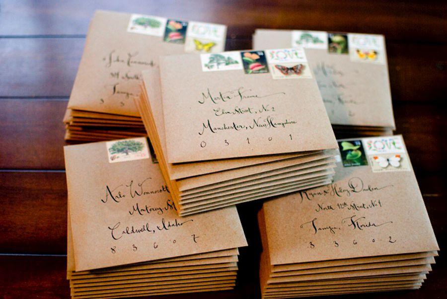 Brown envelopes, postage