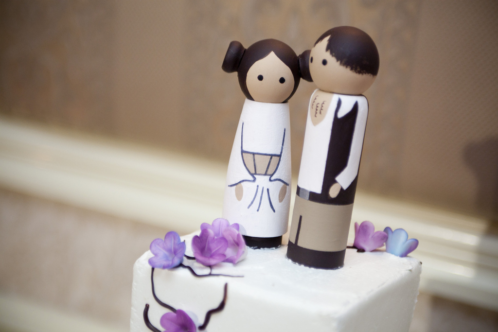 Star Wars geek cake topper