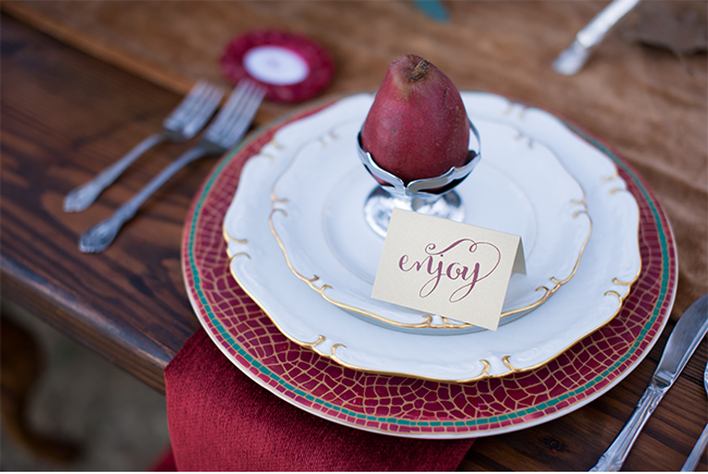 Marsala place card