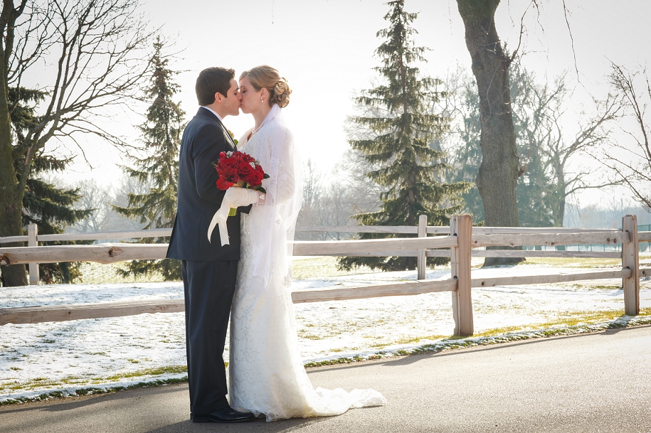 Christmas couple winter wedding