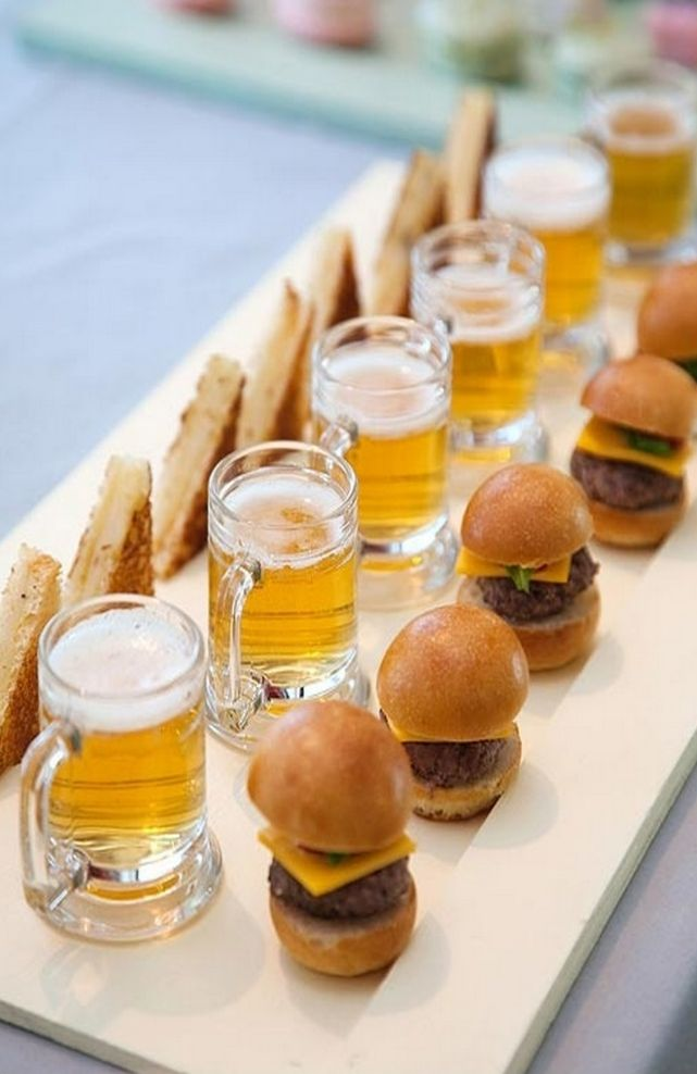 10 wedding ideas for food lovers for Wedding canape ideas