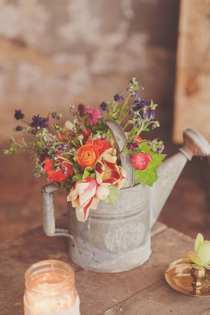 watering can centrepiece