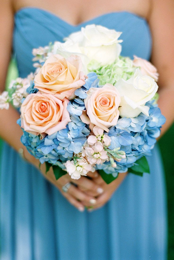 Trend alert blue and peach wedding socialandpersonalweddings advertisement junglespirit Images