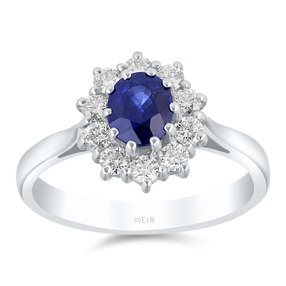 white gold coloured boutique vintage gemstone ring engagement blue image rings sapphire diamond