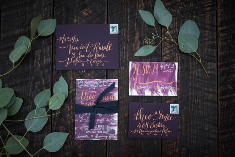 dark plum stationery