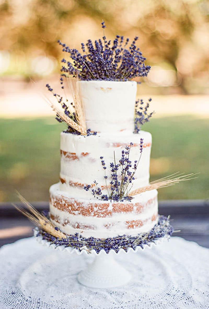 naked lavender cake