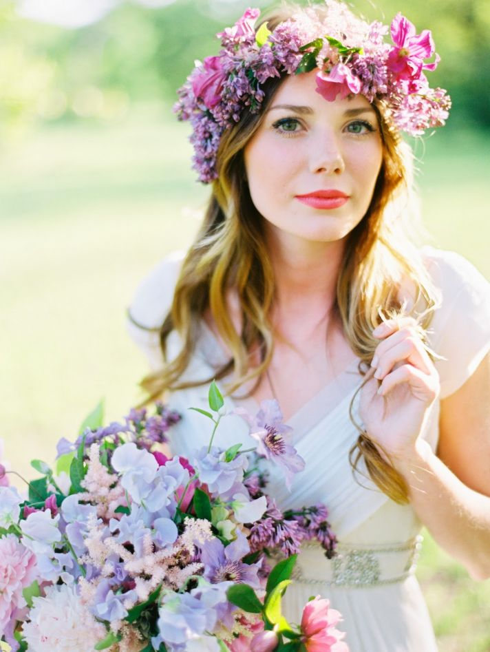 chief bridesmaid flower crown