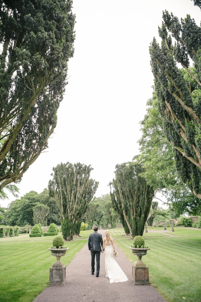 Tankardstown House: couple on grounds