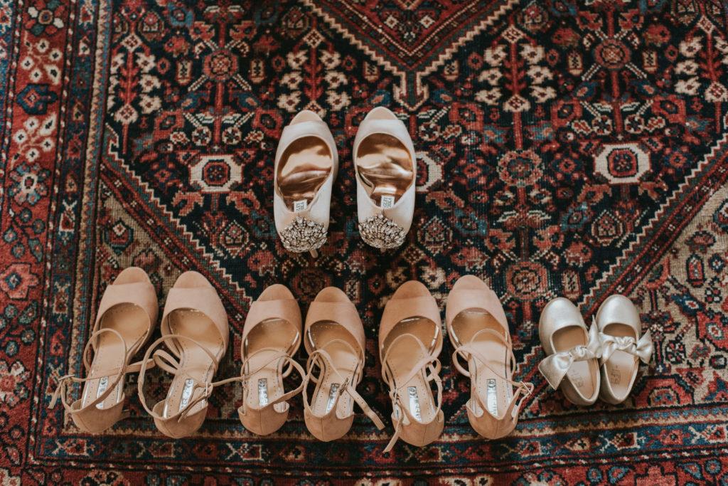 Bridal party shoes at Orla & Gavin's wedding at Cloughjordan House