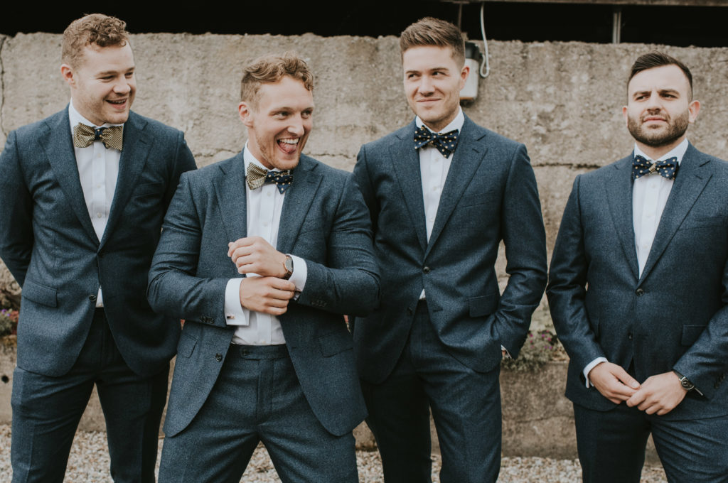 Groomsmen and groom at Orla & Gavin's wedding at Cloughjordan House