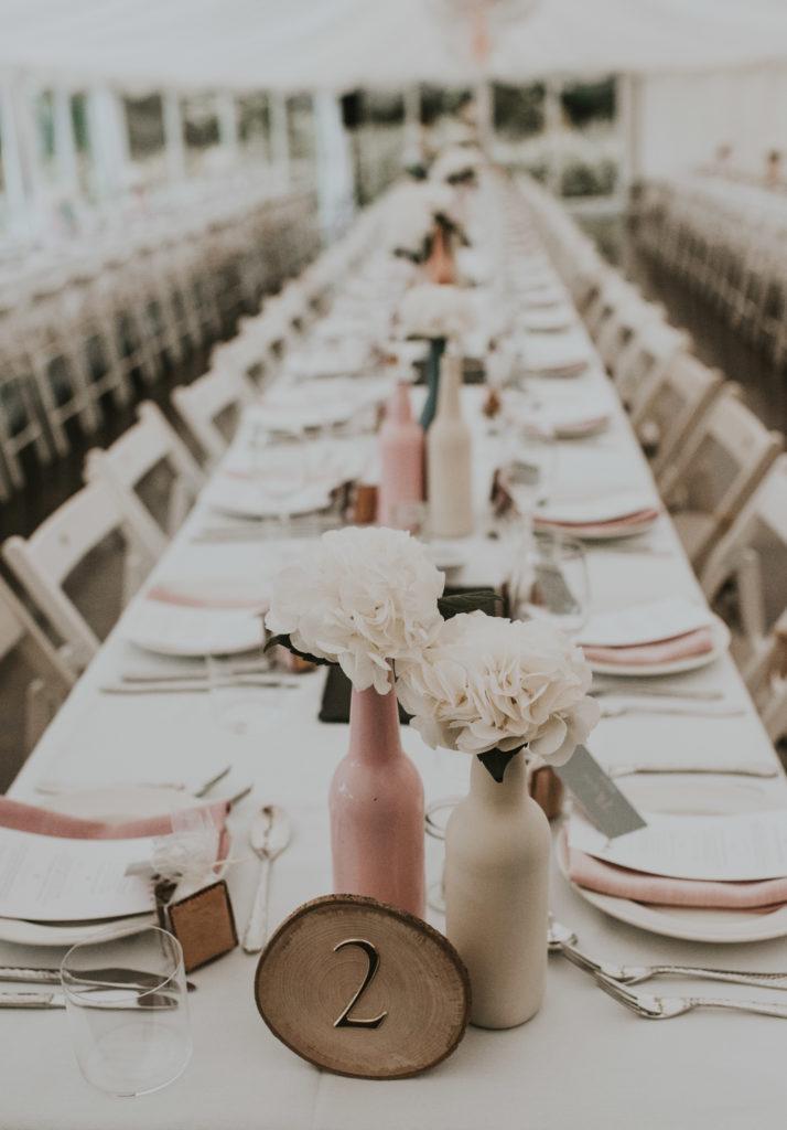 Tables at Orla & Gavin's wedding at Cloughjordan House