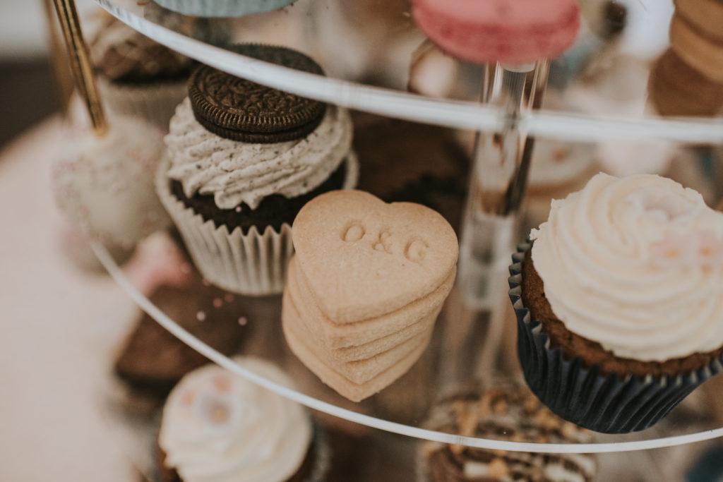 Cupcakes at Orla & Gavin's wedding at Cloughjordan House