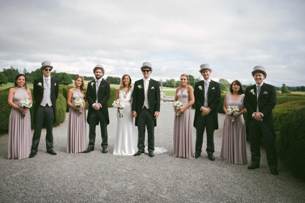 Ali and Ronan at Carton House. Bridal Party.