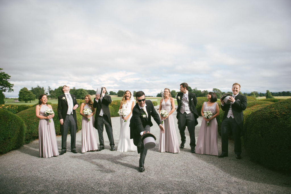 Ali and Ronan at Carton House. Bridal party
