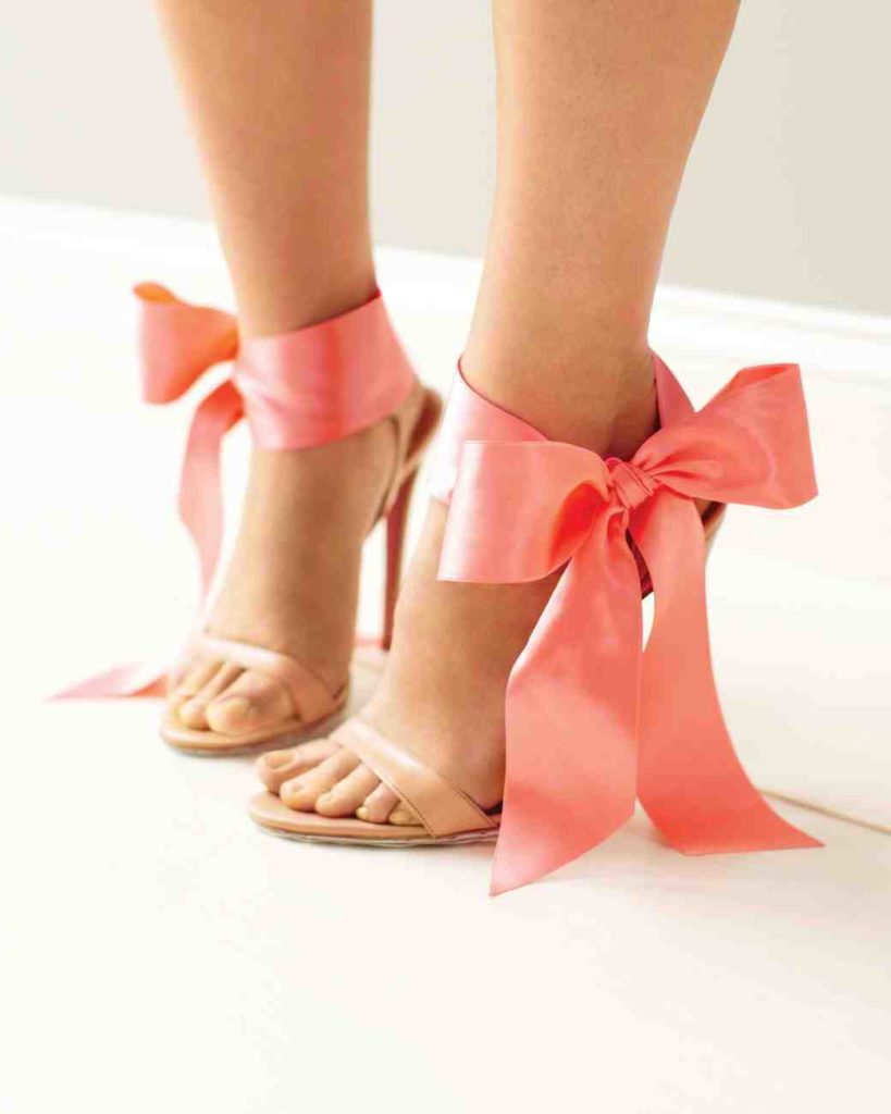 Coral Shoes with Bow