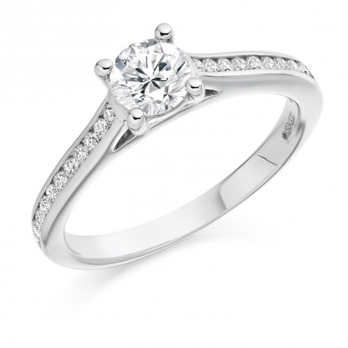 Weir & Sons Platinum & Diamond Engagement Ring, €3250