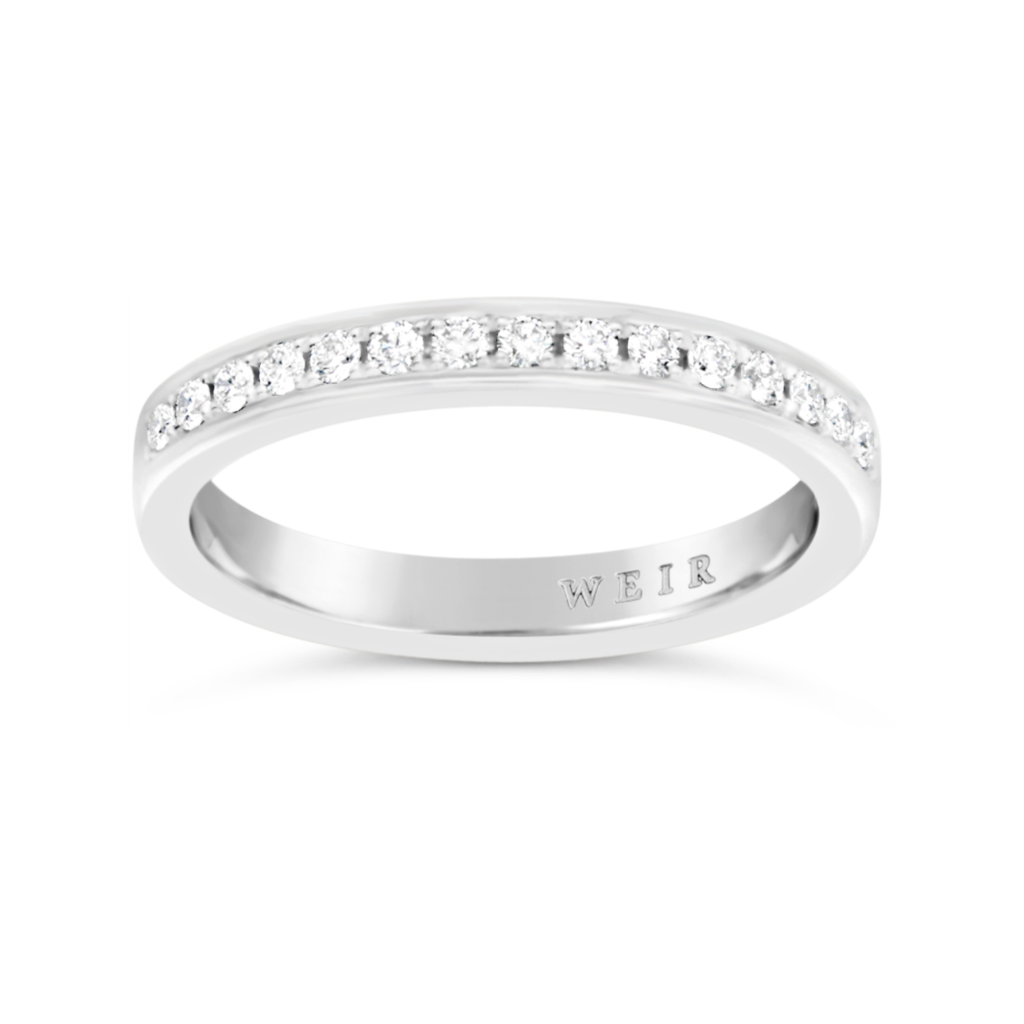Platinum Diamond Set Wedding / Eternity Ring, €1325
