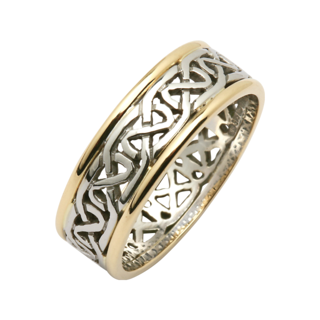 18K Yellow & White Gold Celtic Wedding Ring, €1400.