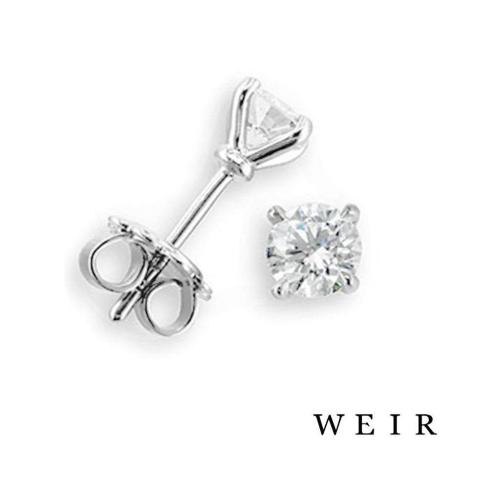 White gold round Brilliant Diamond Studs, €2,460