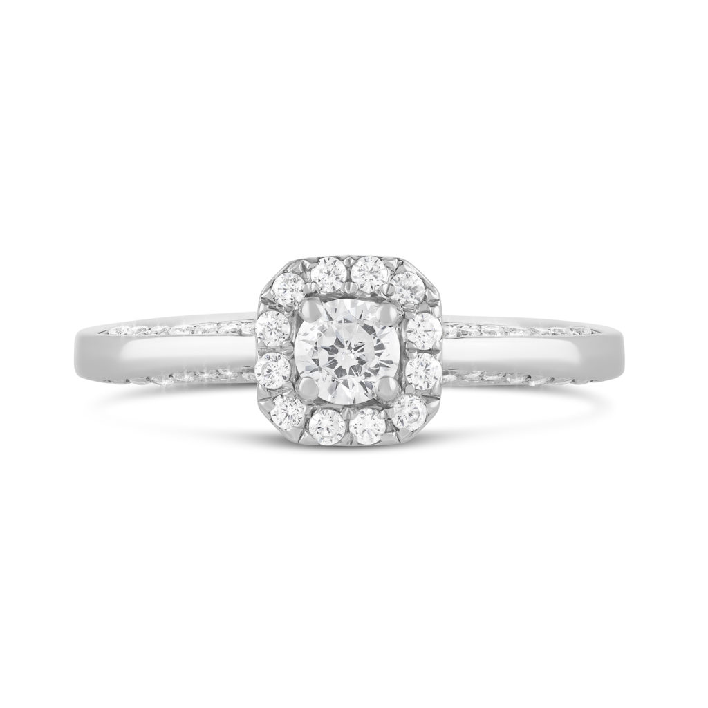 Kathy de Stafford 18ct White Gold 0.50ct Diamond Halo Ring €1,950