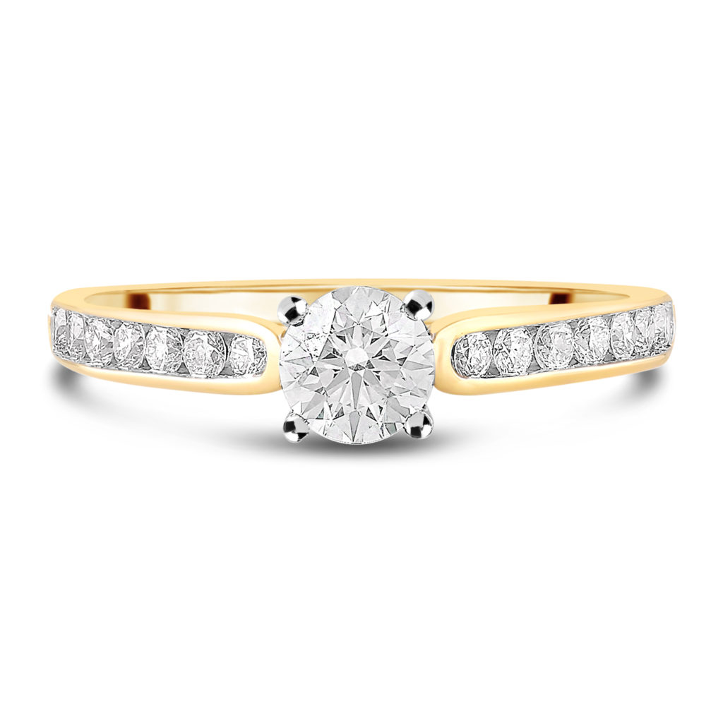 Fields the Jewellers 18ct Yellow Gold 0.75ct Diamond Fields Setting Ring