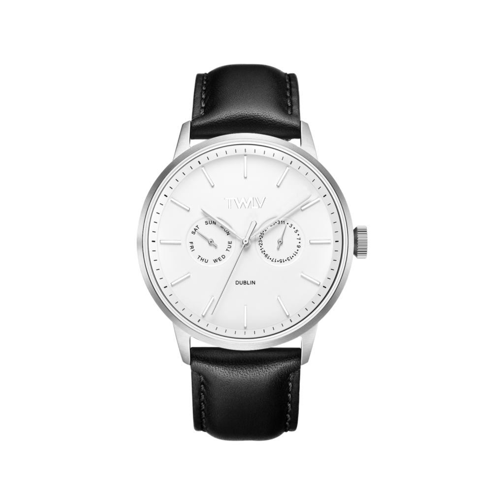 TWLV Black Leather Mr King watch, €139.95