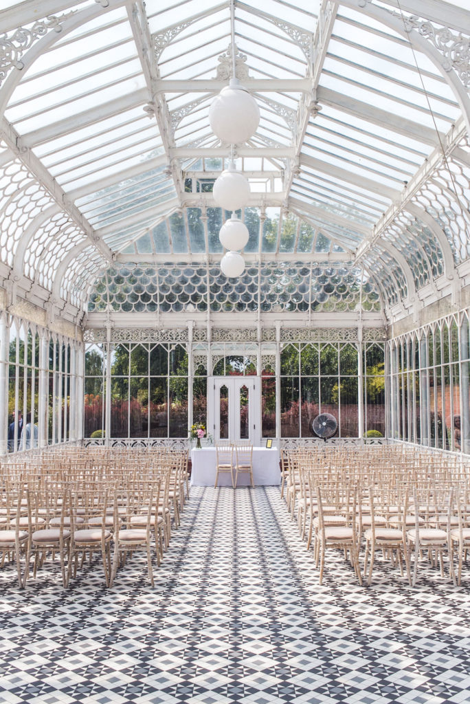 Wedding ceremony in Horniman Museum London taken by Babb Photo